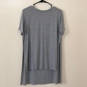 SHEIN Gray High-Low Shirt